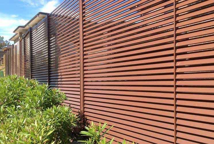 Red Gully Slat Fencing