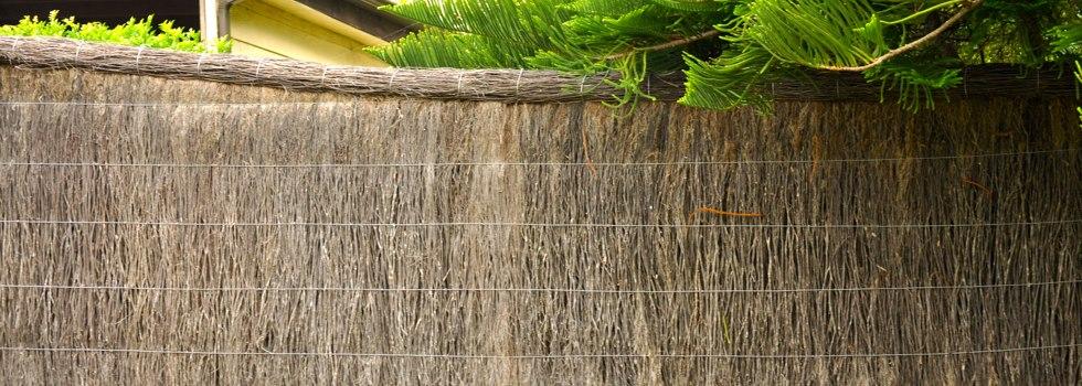 Brushwood fencing 9